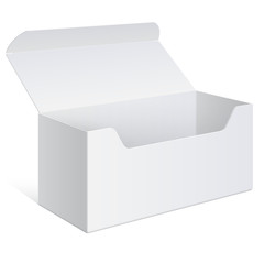 Realistic white Package Box. For Software, device