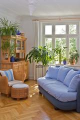 Gemütliches Wohnzimmer in Altbau