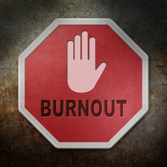 Stopschild Burnout - Wand