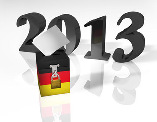 Wahlurne Deutschland 2013
