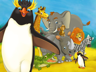 Cartoon safari - illustration for the children