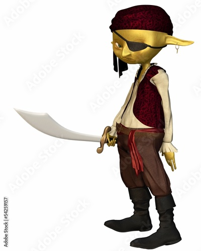 Goblin Pirate with Eye Patch