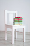 Present box on chair