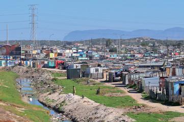 bidonville proche de la vilee du Cap