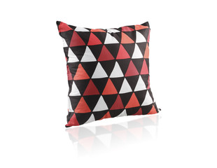 Colorful cushion isolated on white background