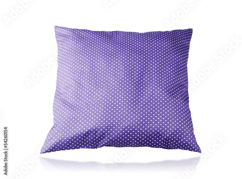 beautiful big cushion isolated on white background