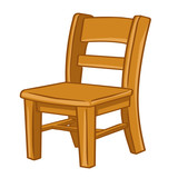 Fototapety wood Chair isolated illustration