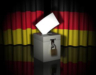 Vorhang Wahlurne Deutschland