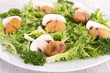 salad with mushroom and chestnut