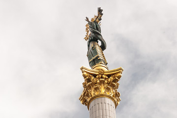 Stella with column at Independence square in Kiev