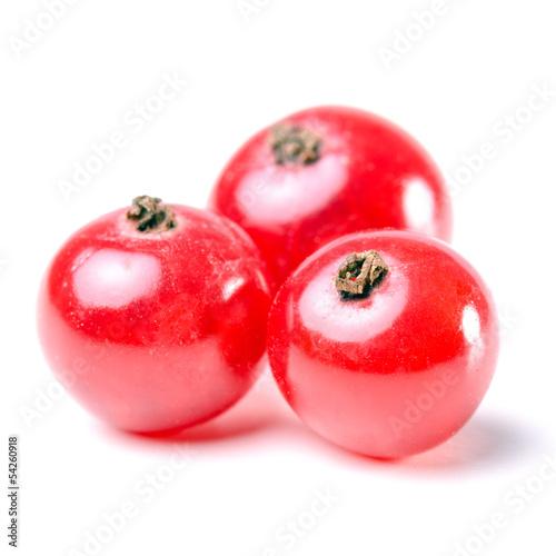 rote Johannisbeeren isoliert vor weiß