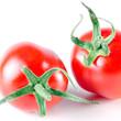 zwei Tomaten vor weiß