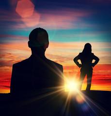 man woman sun