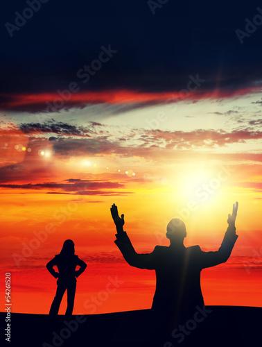 sun flare silhouettes