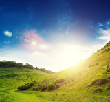 bright sun countryside
