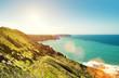 sun flare coast line