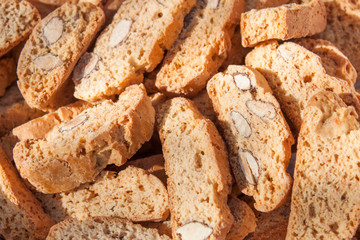 Biscotti (Prato biscuits) close-up view