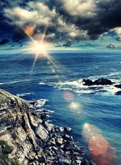 stormy sunshine ocean