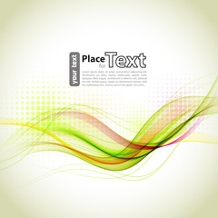 Abstract  wave design element