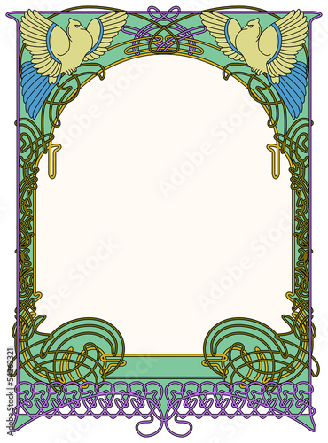 Frame of the art nouveau