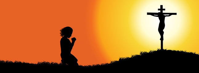 Prayer silhouette (Timeline cover)