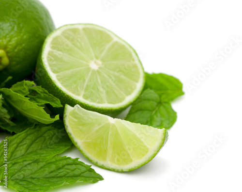lime and peppermint