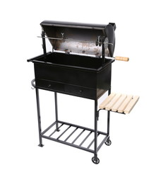 new black barbecue with a cover over
