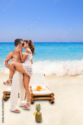 Couple at summer resort