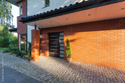 Brick house entrance