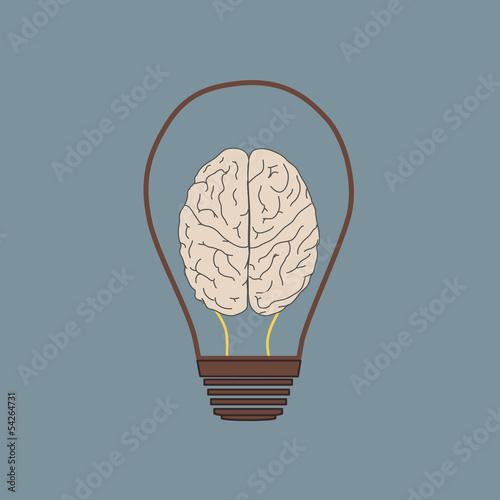 Building in the Light bulb vector icon logo, idea concept