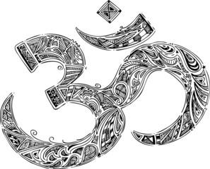 Om symbol, sketched doodle