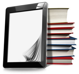Tablet Computer with Pages and Books