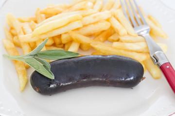 boudin noir et frites