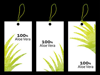 special price tag with aloe vera design