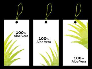 special price tag with aloe vera design