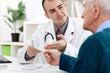 doctor giving   a prescription