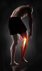 Man knee pain concept