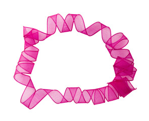pink ribbon surronding copyspace
