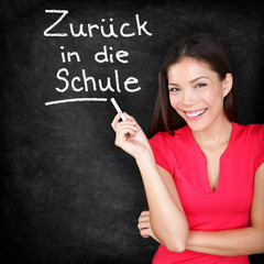 Zuruck in die Schule - German teacher back to school