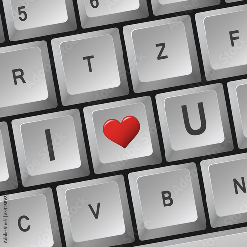 """Computer Tastatur """" I Love U """""""