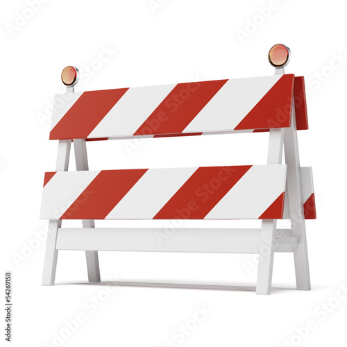 roadblock isolated on white background