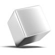 a solid metal cube