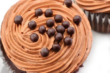 Gourmet chocolate iced cupcakes