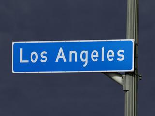 Los Angeles Street Sign Storm