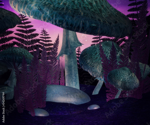 Magic Mushrooms Violet Background