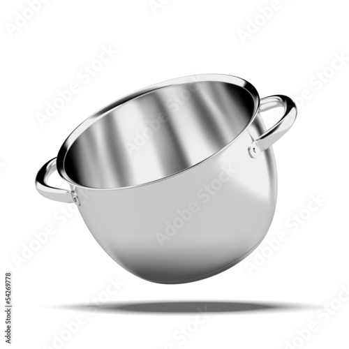 Open stainless steel pan