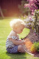 little girl garden