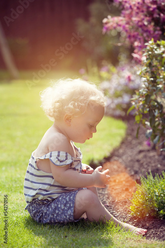 little girl garden