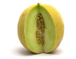 Galia melon on a white background