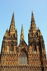 West front of Lichfield Cathedral, England © Arena Photo UK